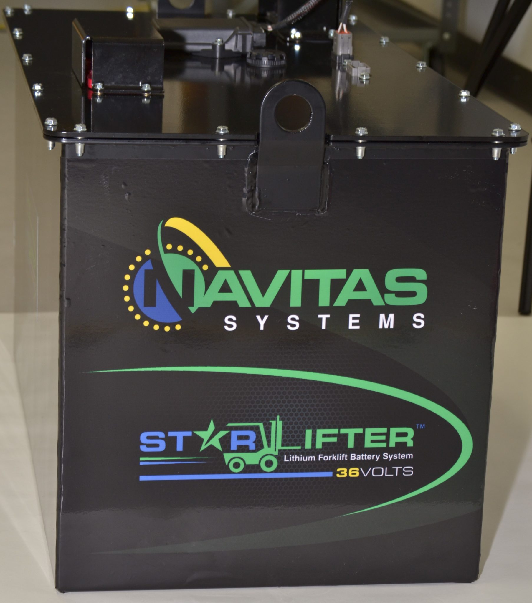 Navitas Systems Starlifter Deep Cycle Lithium Forklift Battery Side Top View