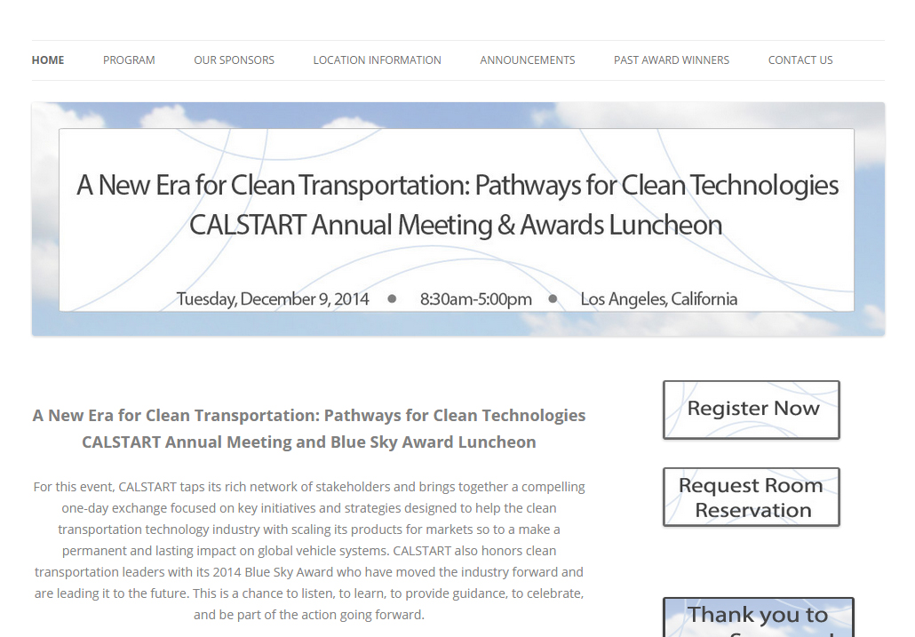 CALSTART Annual Meeting and Blue Sky Award Luncheon